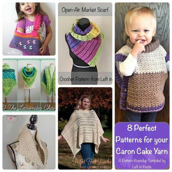 8 free crochet patterns to make with Caron Cakes yarn