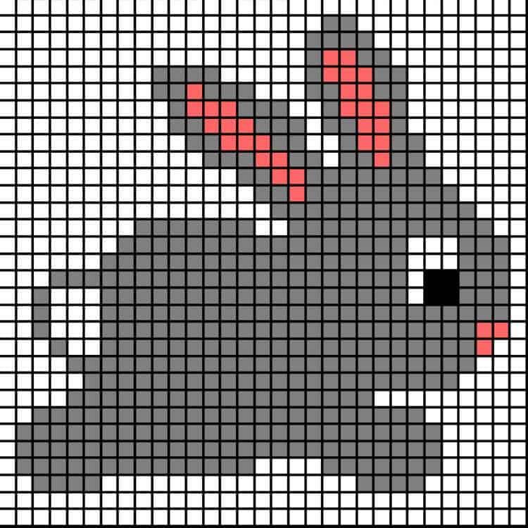 Pixel graph Bunny