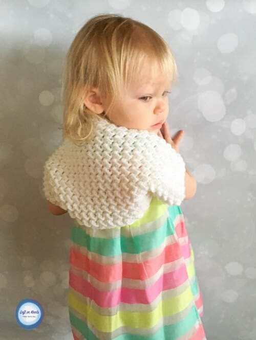 A crochet shrug sweater for toddlers