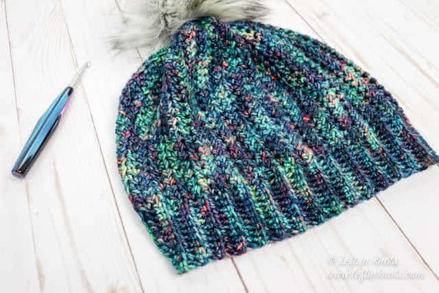An easy HDC beanie made from a rectangle