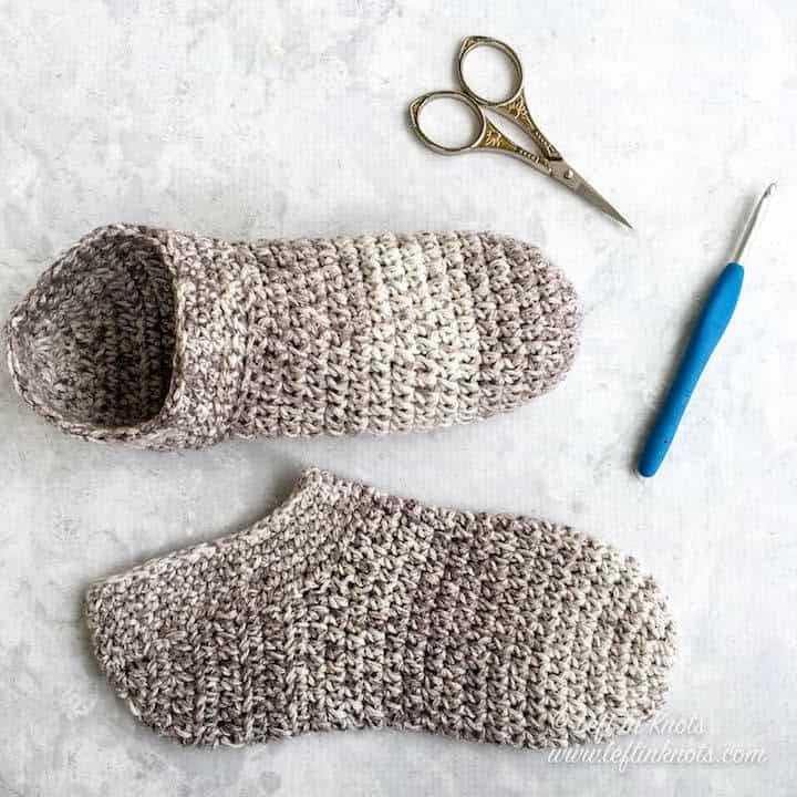 Crochet cotton slipper socks