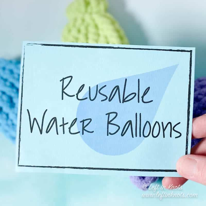 Tags for selling crochet water balloons