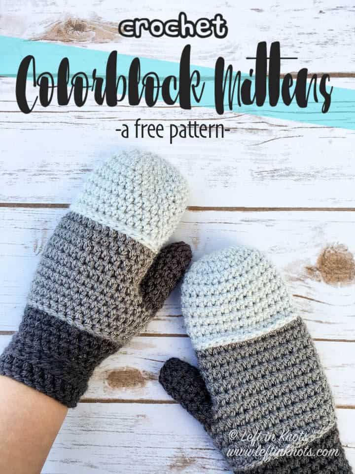 Crochet Colorblock Mitten Pattern